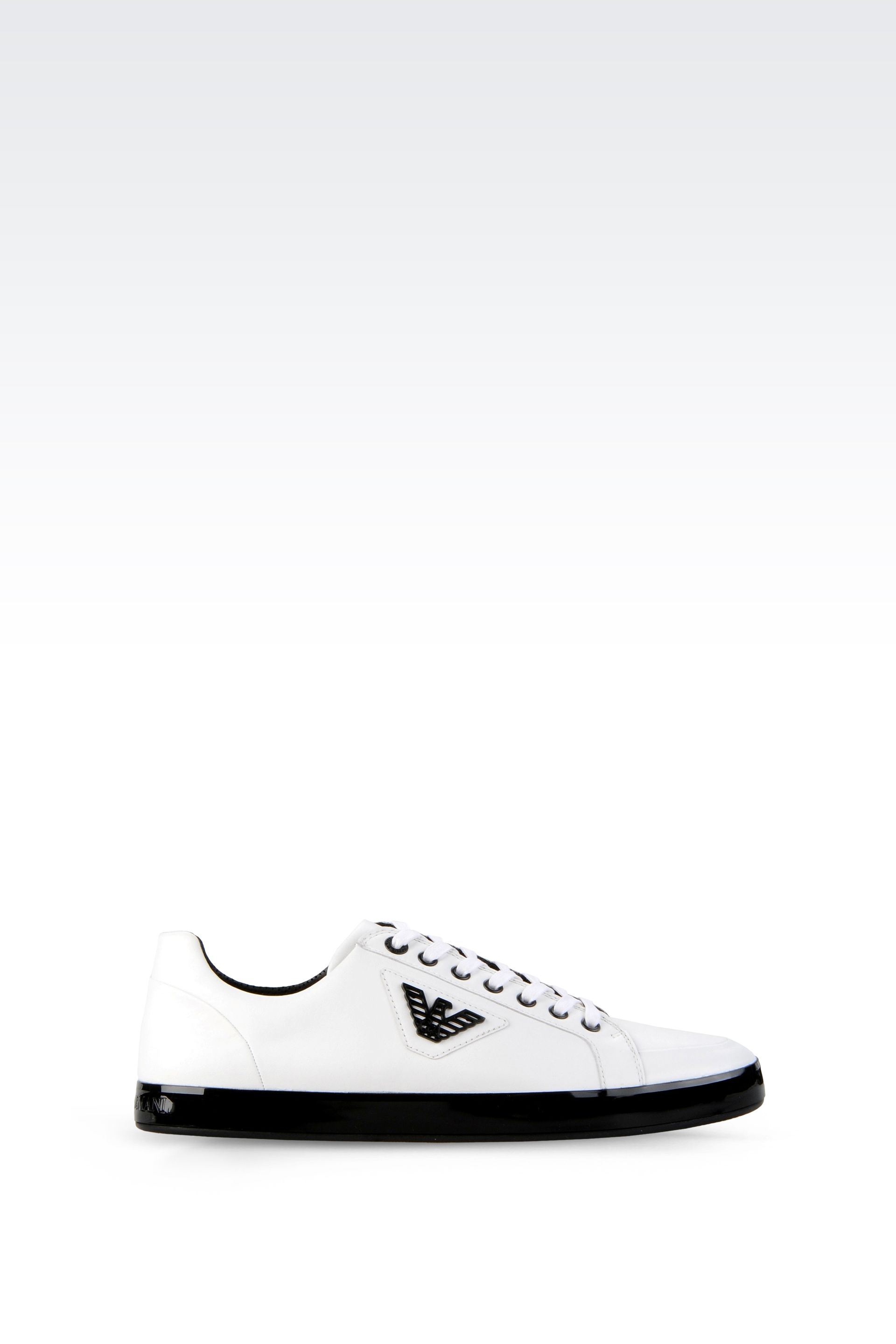 db433bdae Emporio Armani Sneaker in Napa Leather with Logo in White for Men - Lyst