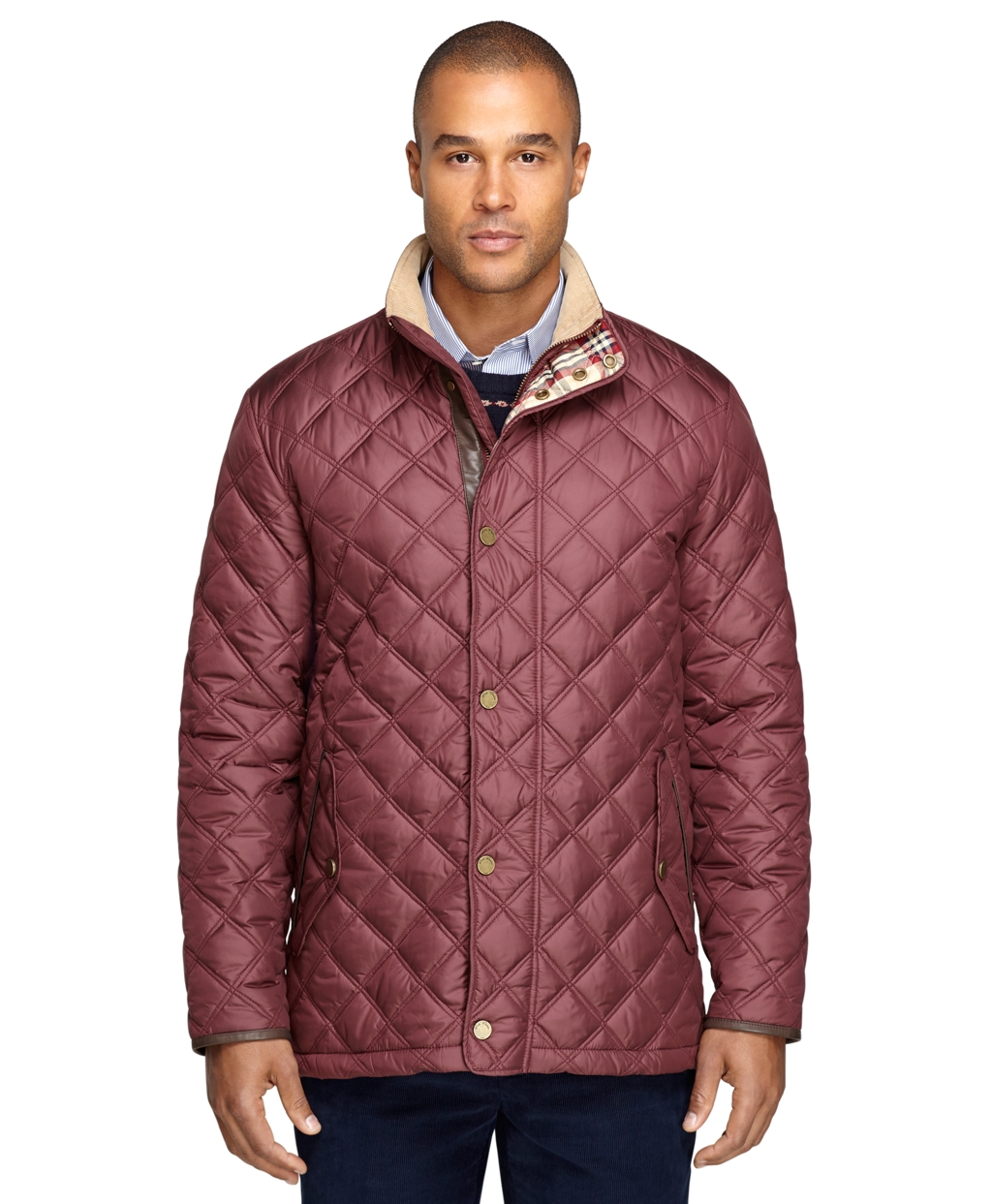 Lyst - Brooks brothers Quilted Jacket in Purple for Men : purple quilted jacket - Adamdwight.com