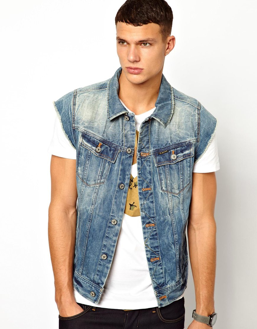 G star sleeveless denim jacket – Novelties of modern fashion photo ...