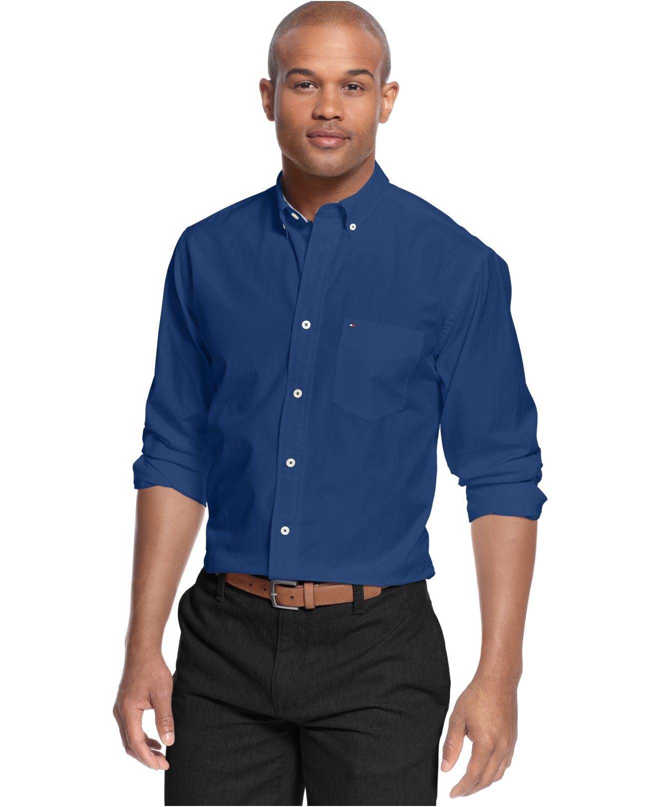 Lyst Tommy Hilfiger Wells Solid Classic Fit Shirt In