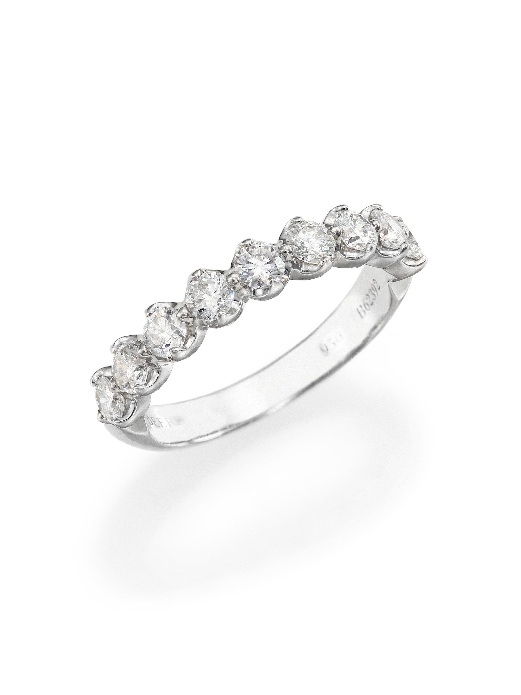 De beers Allegria Diamond & Platinum Half Band Ring in Metallic