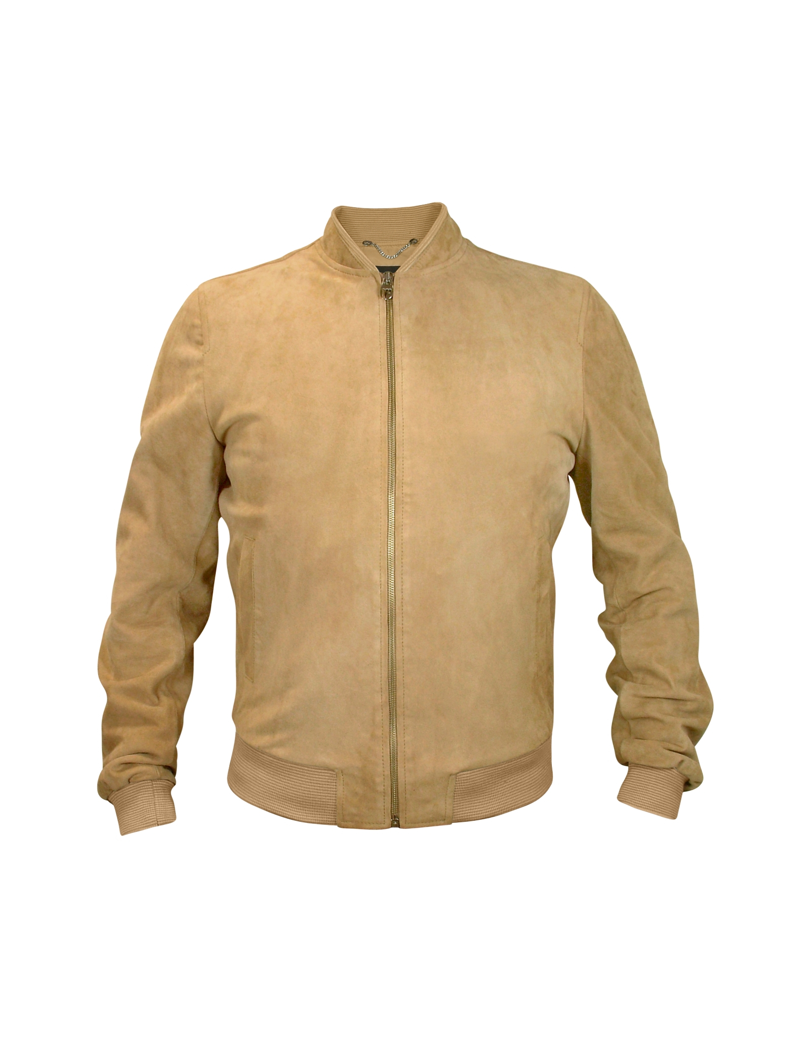 Lyst - Forzieri Men's Light Brown Suede Zip Jacket in Brown for Men