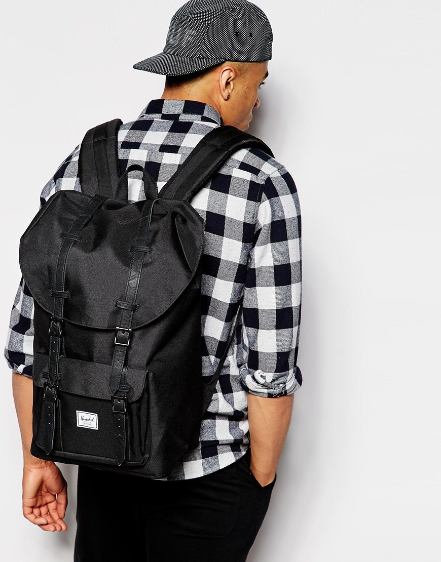 Lyst - Herschel Supply Co. Little America Backpack in Black for Men ae753140cb00b