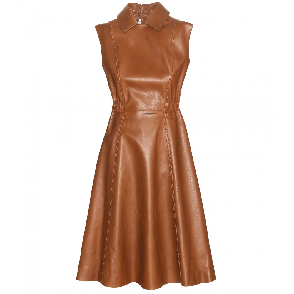 Lyst Acne Studios Levice Leather Dress In Brown