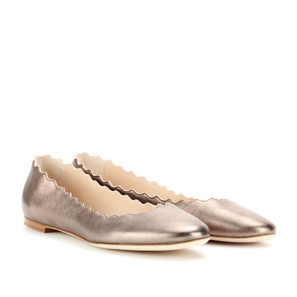 Chloé Lauren metallic leather ballerinas with credit card sale online free shipping collections 100% authentic for sale big discount cheap online BLE5GF
