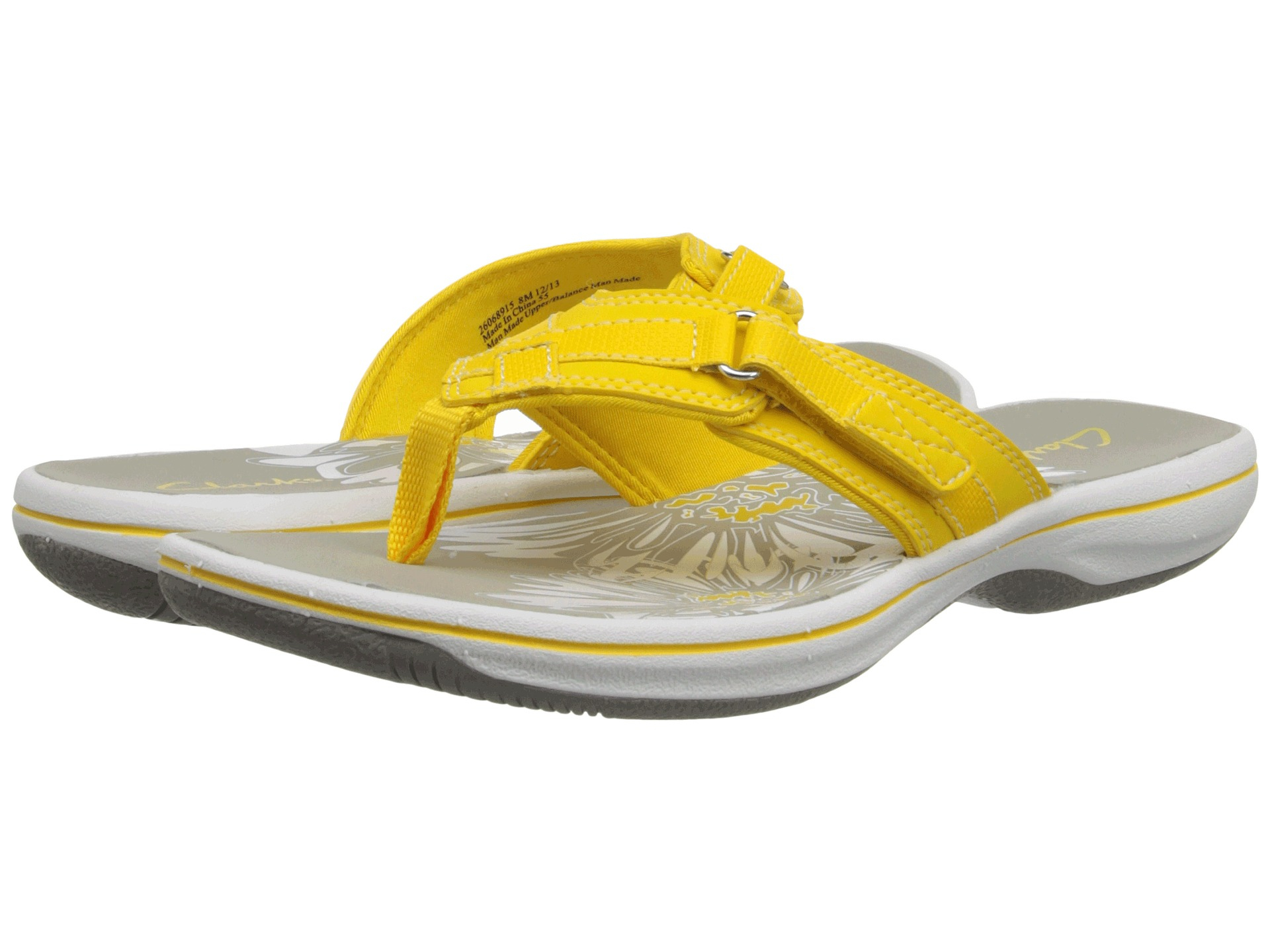 Clarks Synthetic Breeze Sea In Yellow Lyst