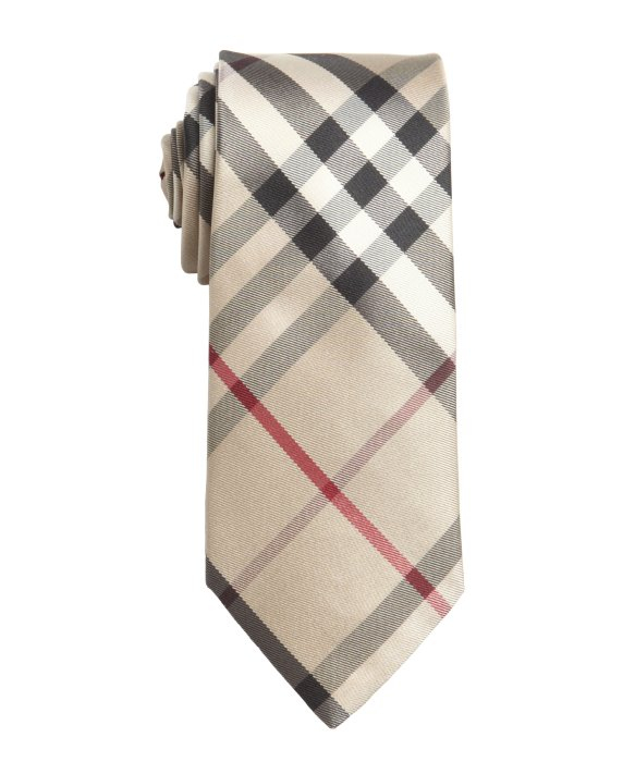 6915a1e07314 ... greece lyst burberry coffee check silk slim tie in natural for men  d9c41 15088