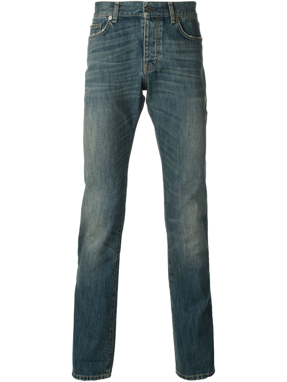 saint laurent stonewash jeans in blue for men lyst. Black Bedroom Furniture Sets. Home Design Ideas