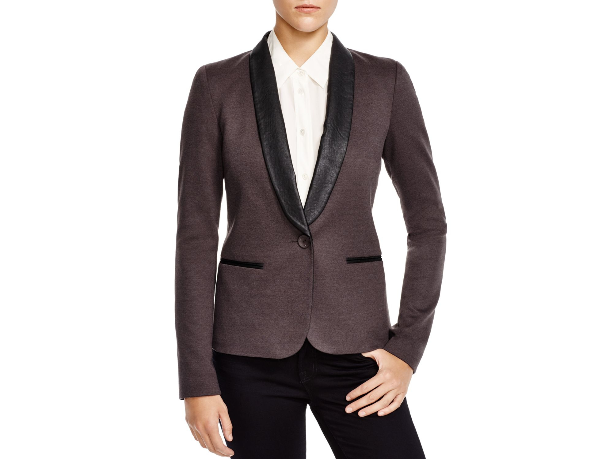 James jeans Tuxedo Jacket in Brown | Lyst