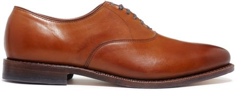 Plain Toe Oxford Brown Plain Toe Oxfords in Brown