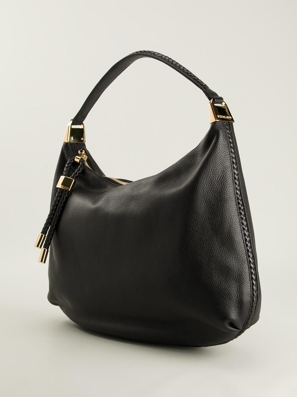 73319cbf64a8 ... low price michael kors skorpios hobo shoulder bag in black lyst b37c7  254be