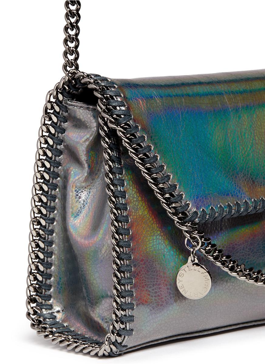 8632e0be4cb2 Lyst - Stella McCartney  falabella  Mini Holographic Cracklé Chain ...