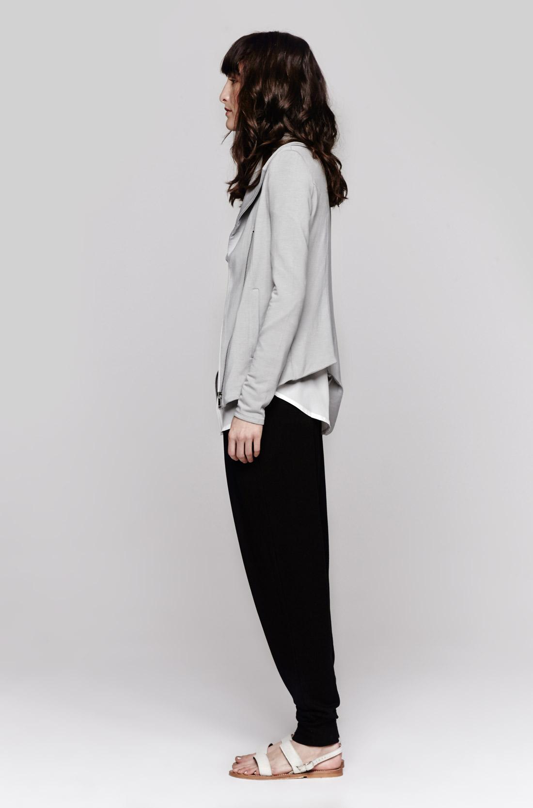 Helmut lang villous sweatshirt in gray lyst for Sweatshirt kleid lang