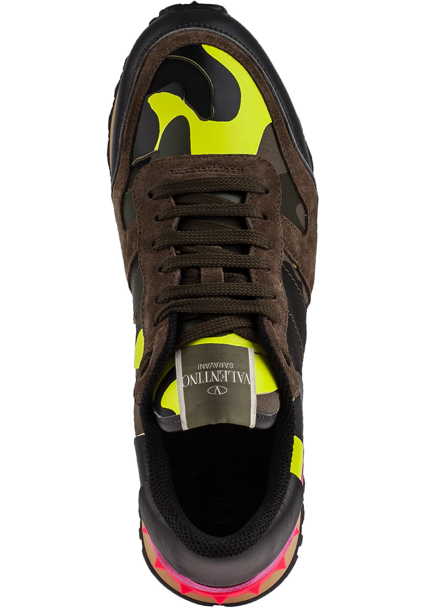 86d643678f5b8 Valentino Rock Runner Sneakers Camo Fabric in Black - Lyst