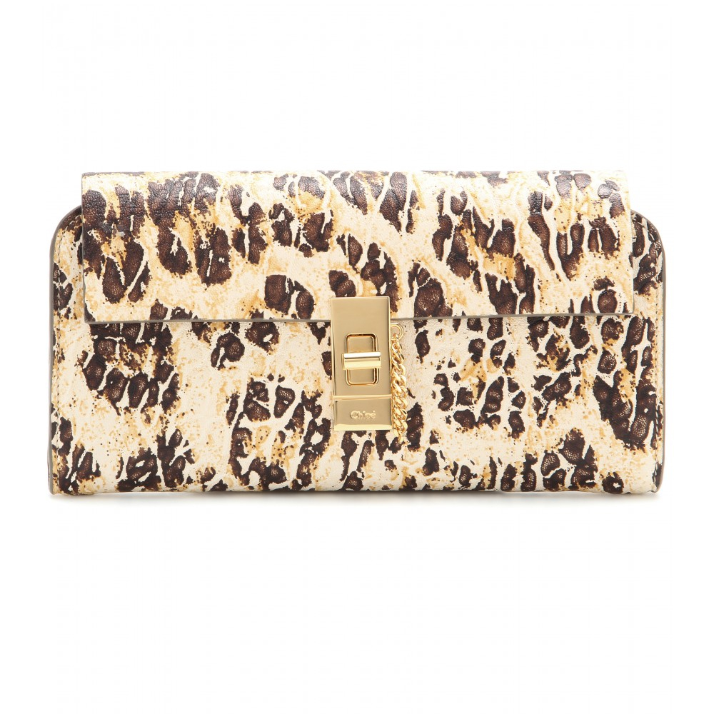 see by chloe purse - Chlo�� Drew Printed Leather Wallet in Animal (leopard) | Lyst