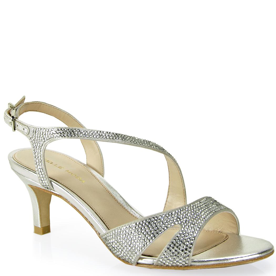 Lyst Pelle Moda Rhinestone Sandal In Metallic