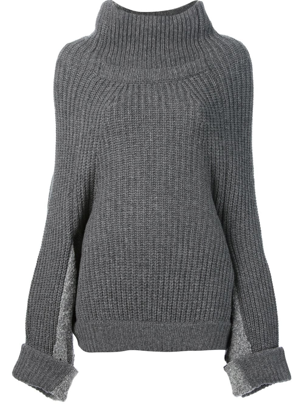 Lyst Toga Pulla Oversized Turtleneck Sweater In Gray