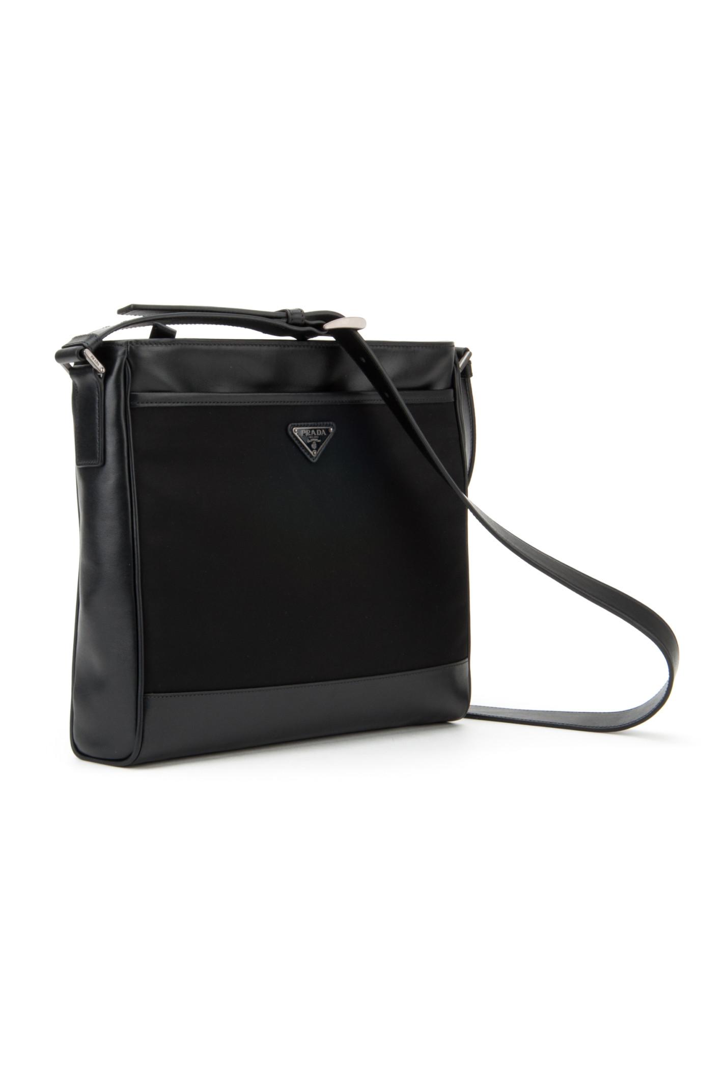 Prada Twill And Soft Calf Travel Bag in Black for Men (NERO) | Lyst