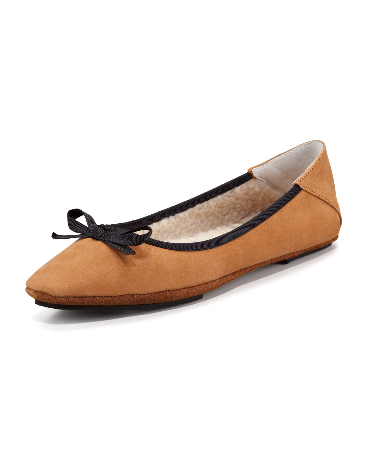 e82d60c6a Lyst - Jacques Levine Inslee Bow Faux-shearling Slipper in Black