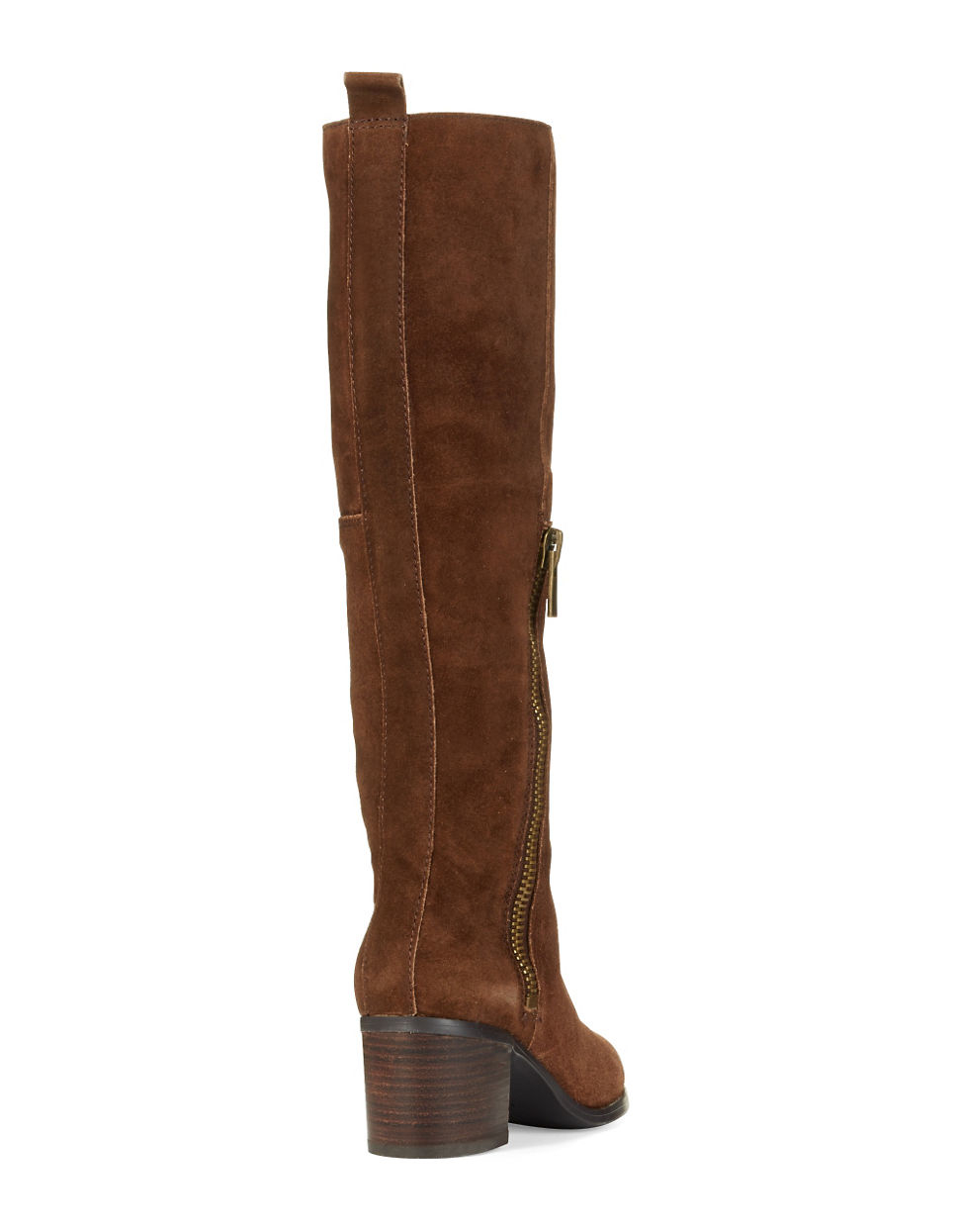 nine west olette suede boots in brown lyst