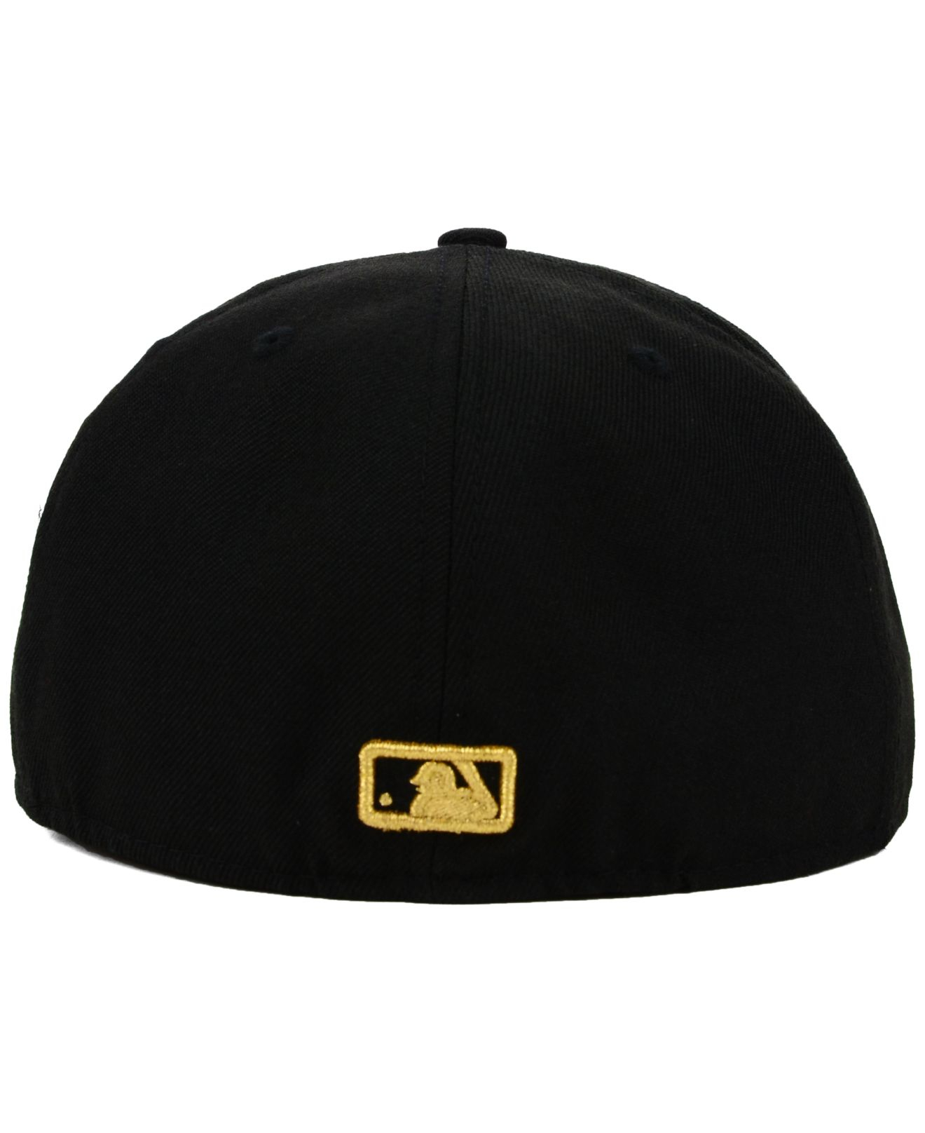 discount bc1b5 4e95f ... closeout lyst ktz tampa bay rays gold 59fifty cap in black for men  90020 bb492