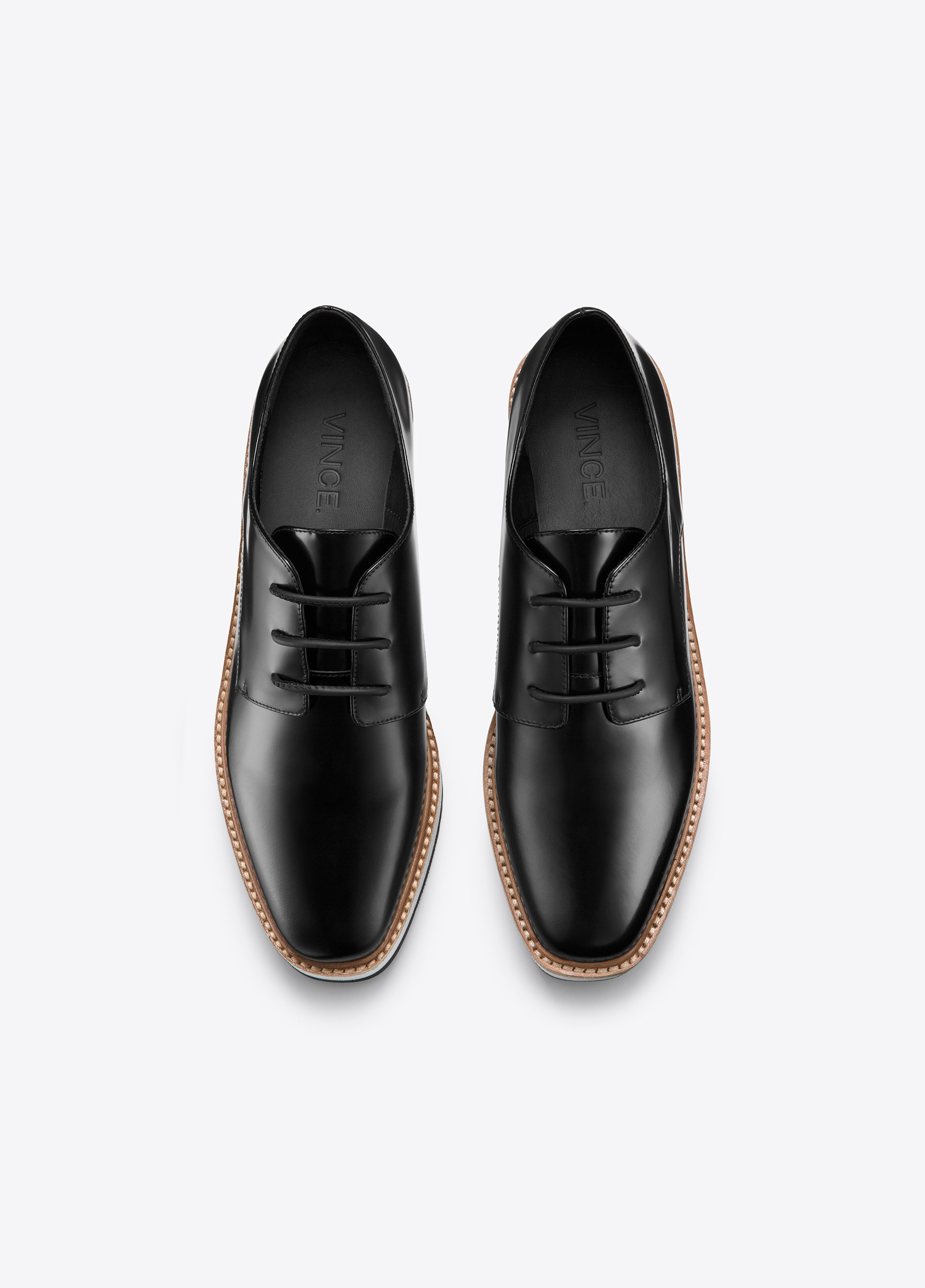 cca7fbbce94 Lyst - Vince Reed Platform Leather Loafer in Black