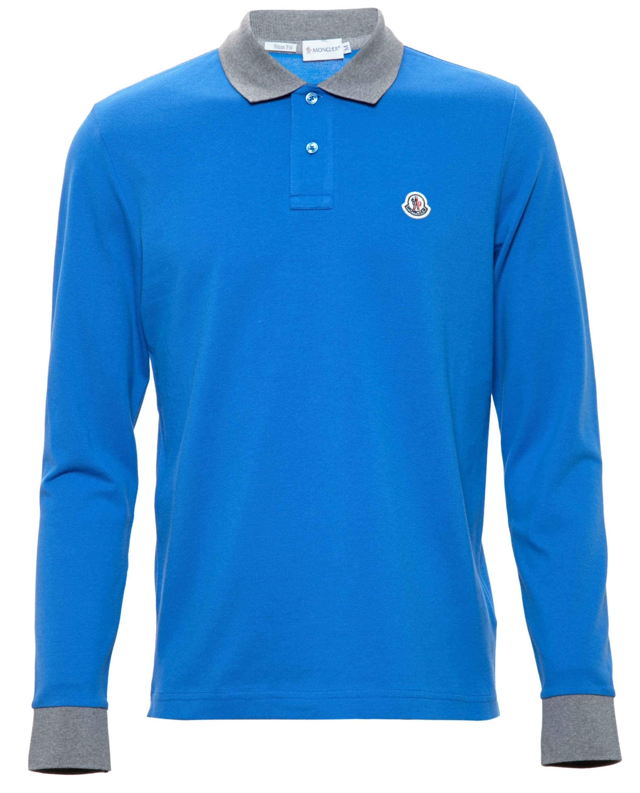 04a8badf0 Lyst - Moncler Longsleeve Polo Shirt in Blue for Men