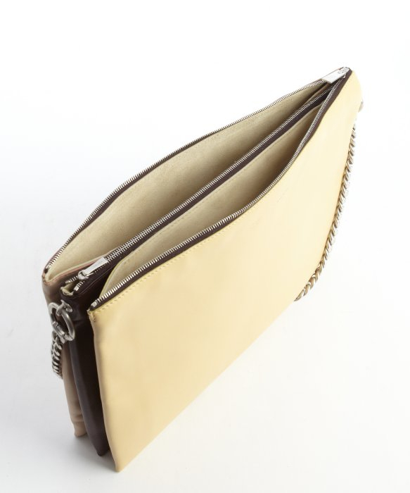 C¨¦line Vanilla, Brown And Pale Yellow Leather \u0026#39;Trio\u0026#39; Shoulder Bag ...