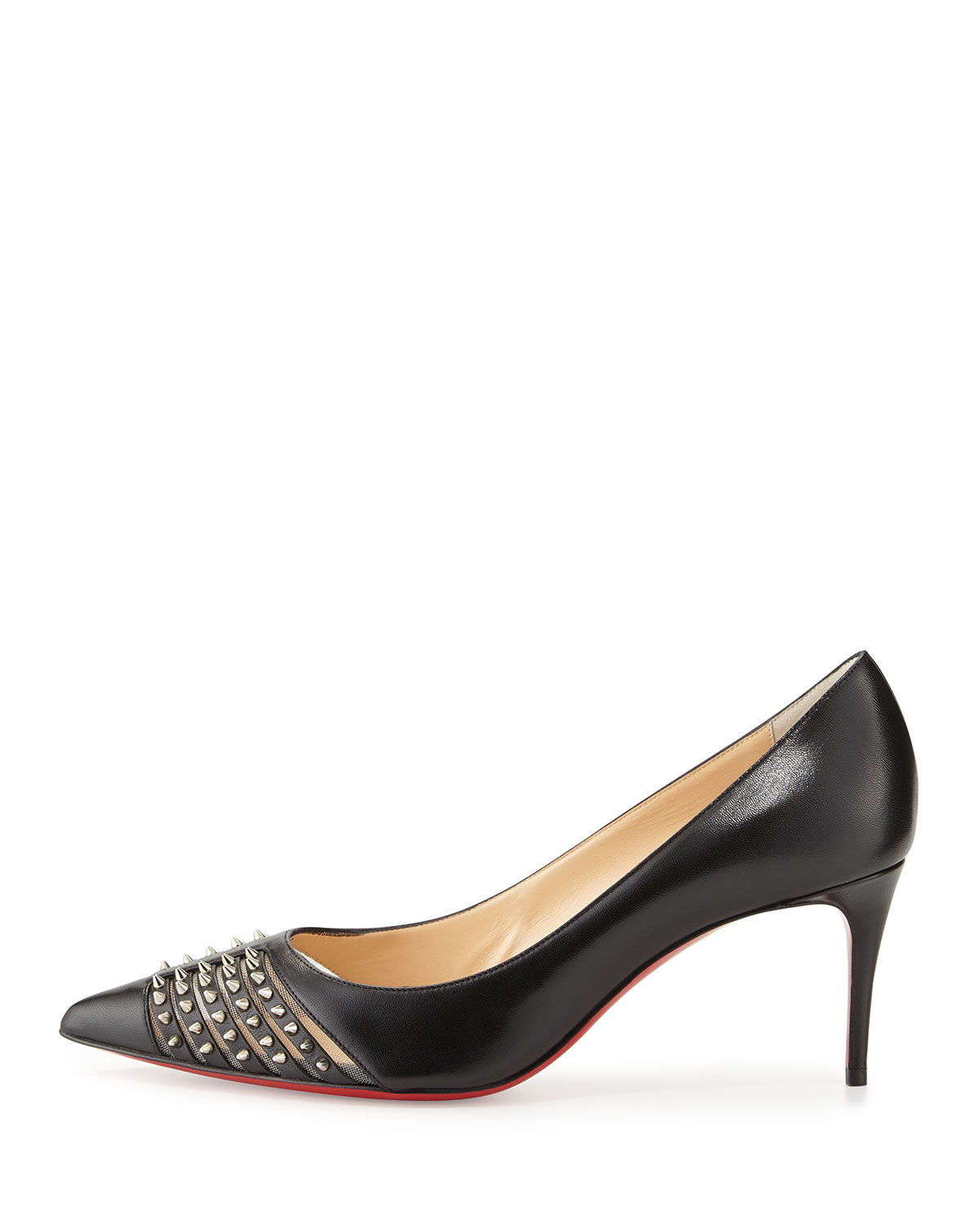 louis vuitton mens loafers - Christian louboutin Baretta Studded Low-heel Red Sole Pump in ...