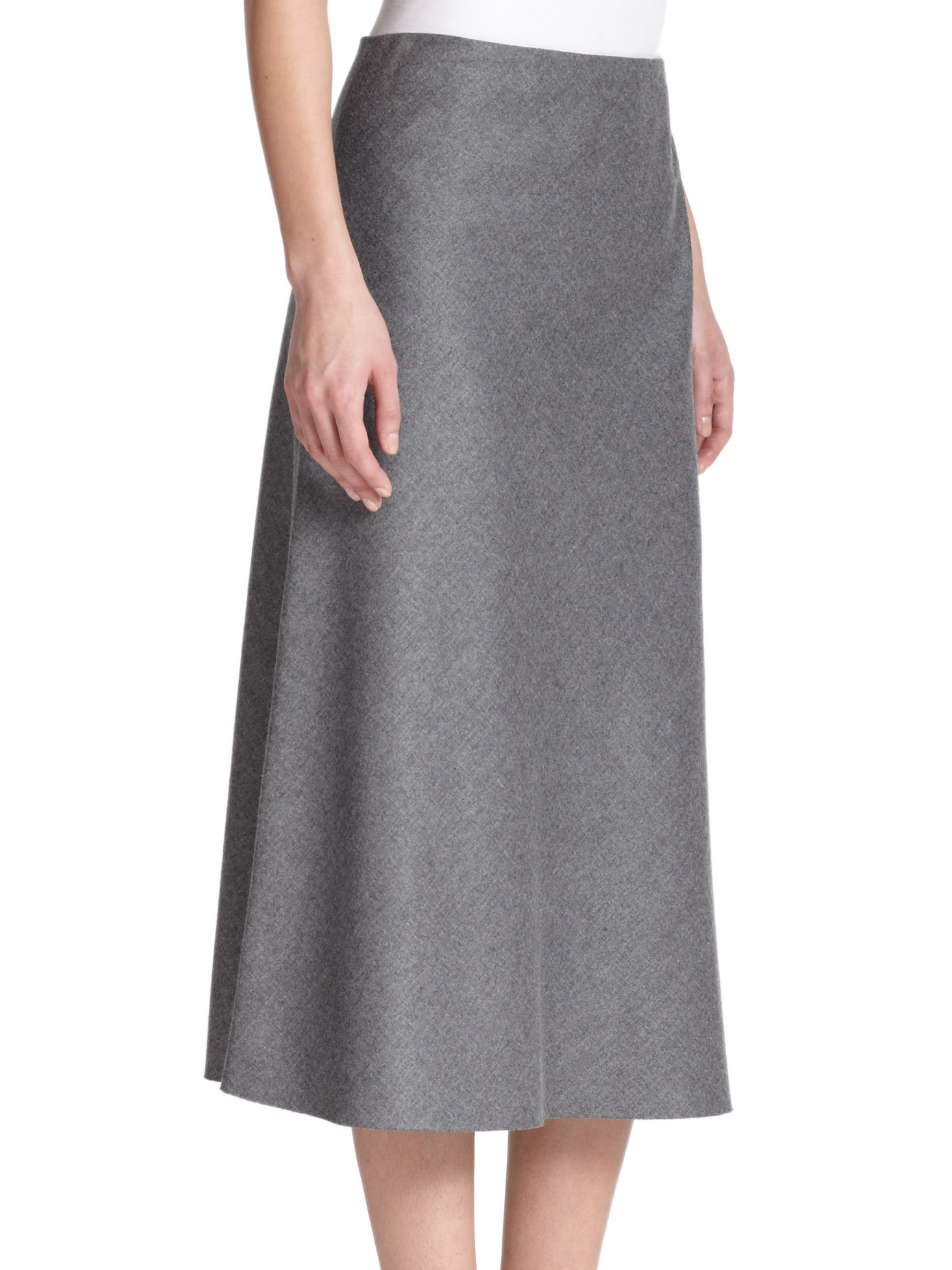 Lyst Theory Jaheem Flannel A Line Skirt In Gray
