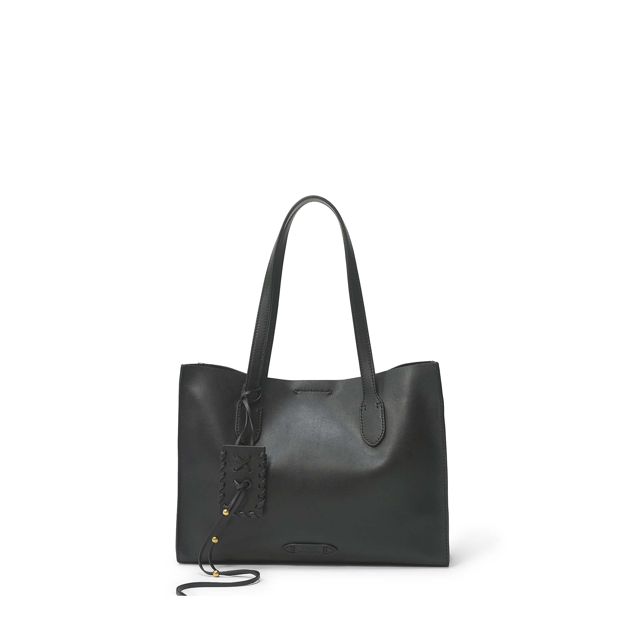 c3bfefd1d3a ... uk lyst polo ralph lauren leather tote in black a82f3 1d4b2
