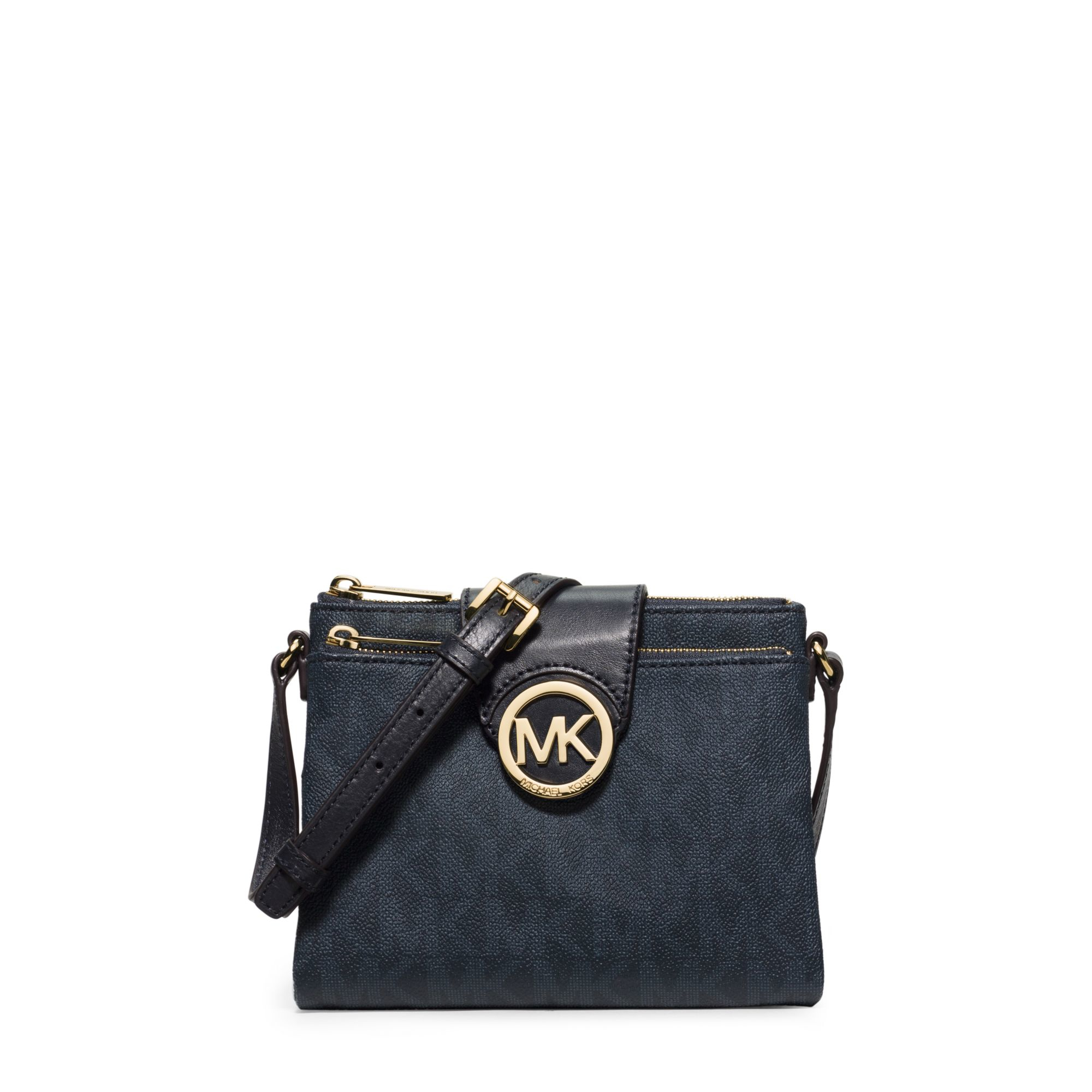 michael kors fulton small saffiano leather crossbody in blue lyst. Black Bedroom Furniture Sets. Home Design Ideas