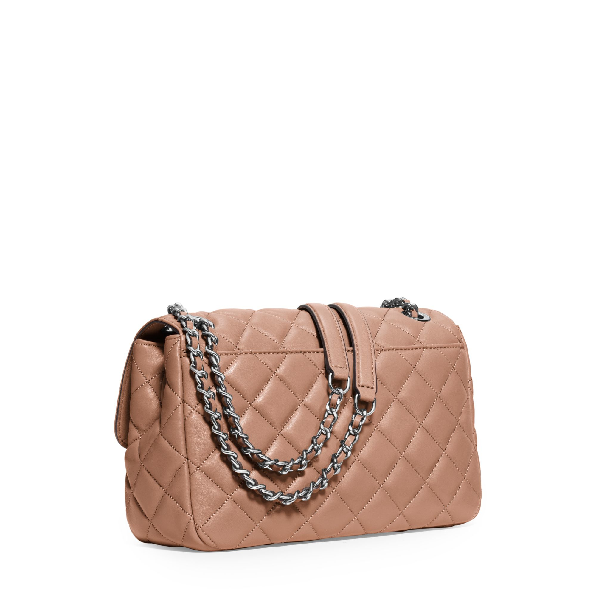 Michael kors Sloan Large Quilted-leather Shoulder Bag in Pink | Lyst