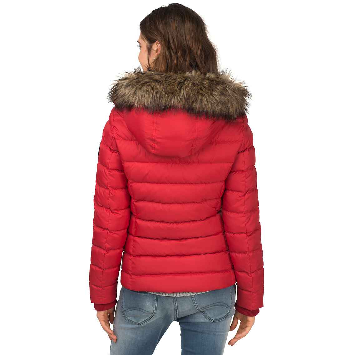 41ca92bb372 Tommy Hilfiger Martina Down Filled Bomber Jacket in Red - Lyst