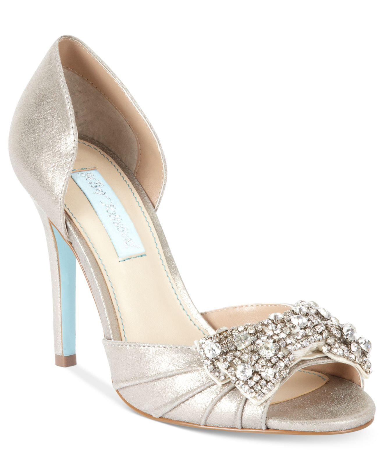 Lyst - Betsey Johnson Gown Evening Pumps in Metallic