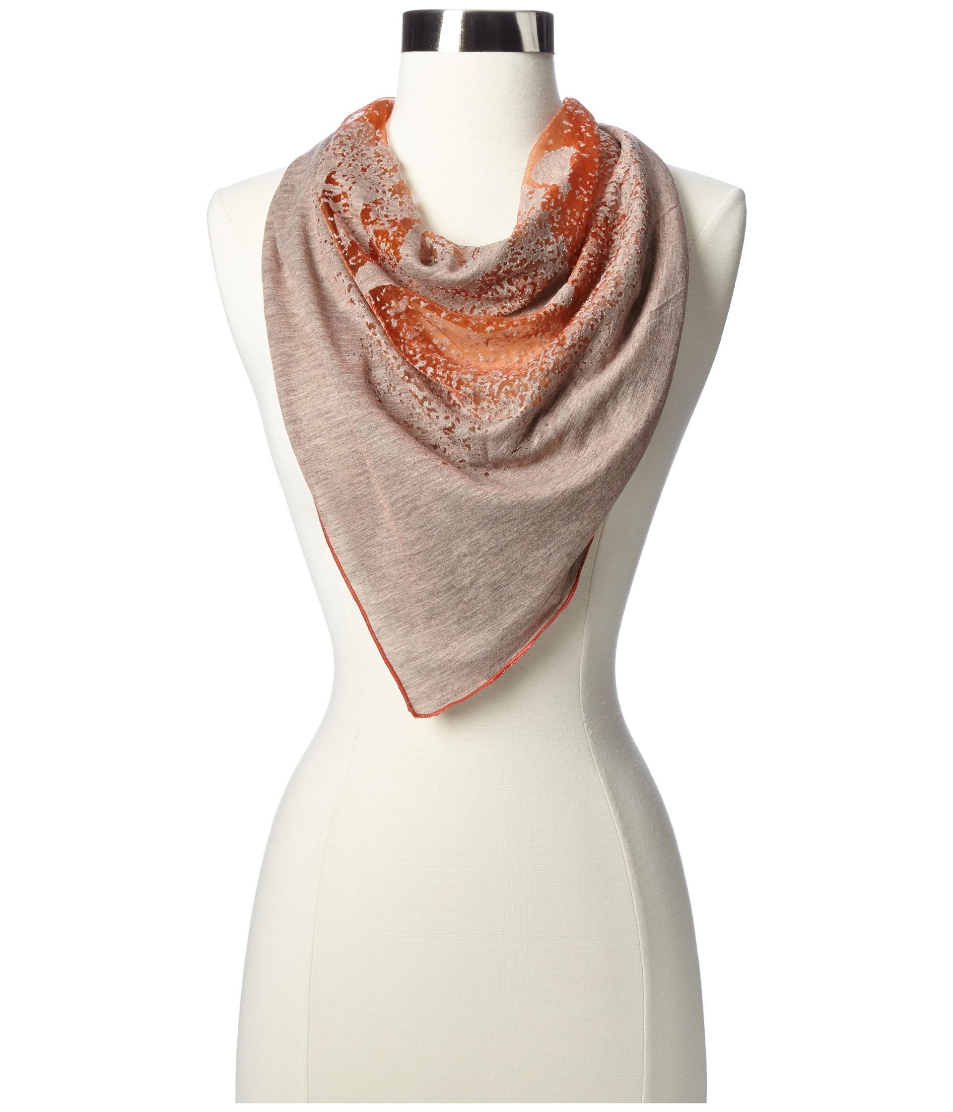 diesel saffron scarf in orange lyst