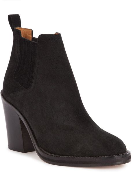 maje highheeled chelsea boots in black lyst