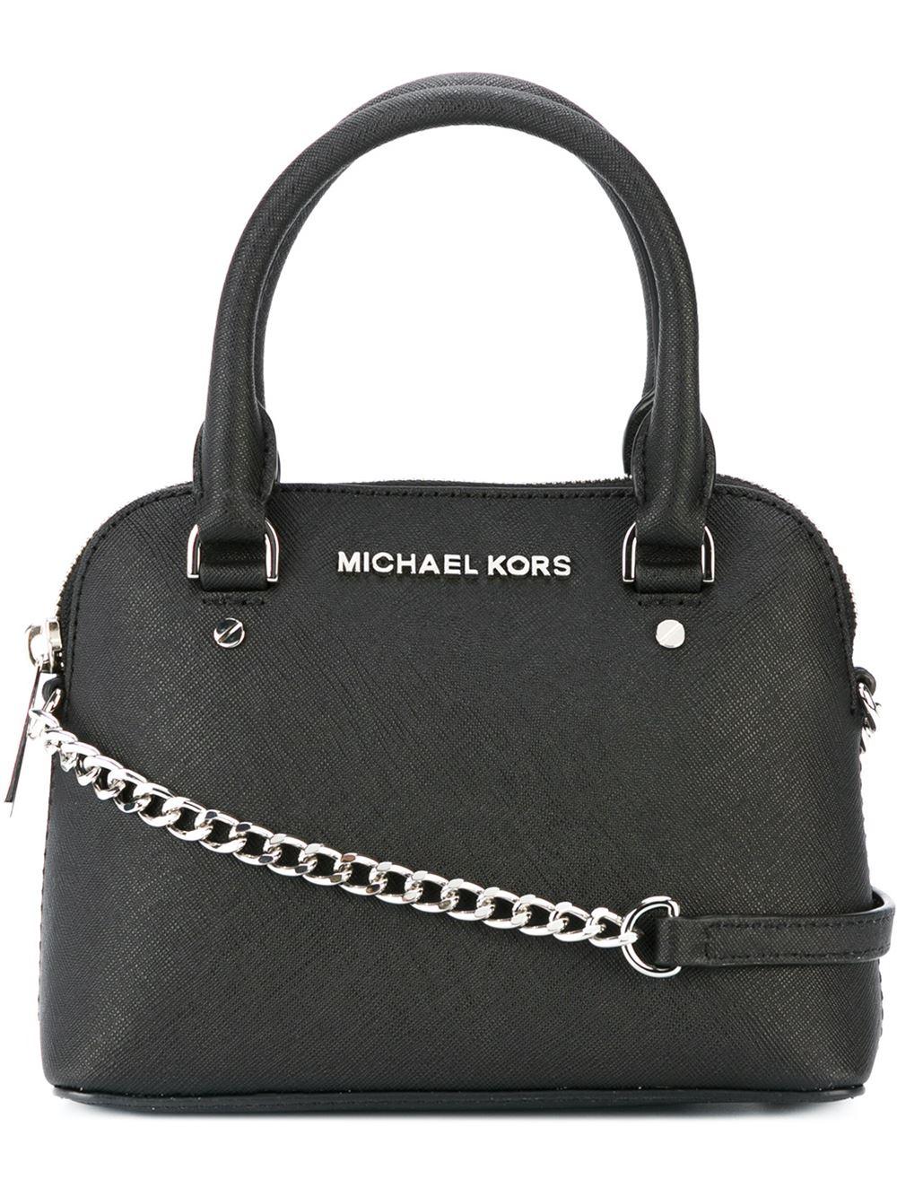 Lyst Michael Michael Kors Mini Cindy Leather Cross Body