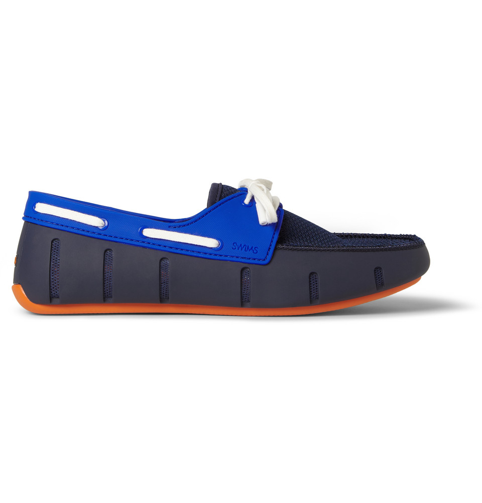 Swims Mens Rubber And Mesh Boat Shoes