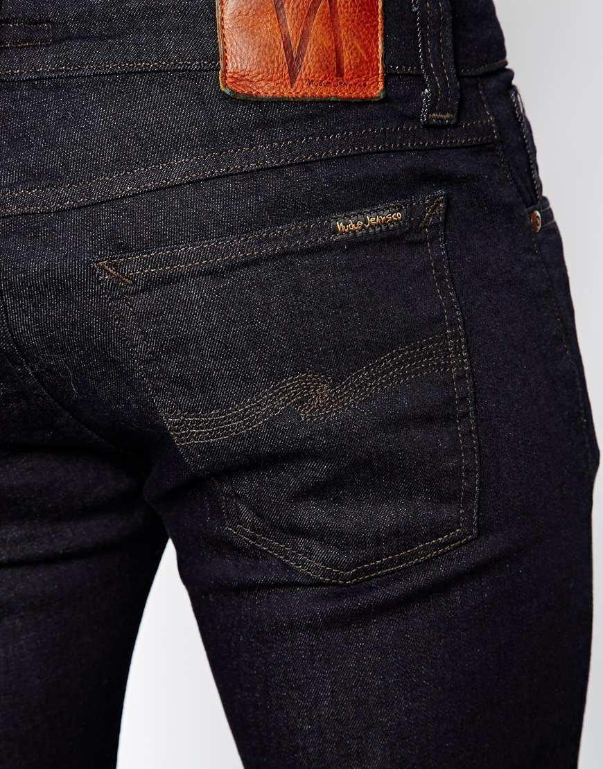 Nudie jeans skinny lin organic dry steel