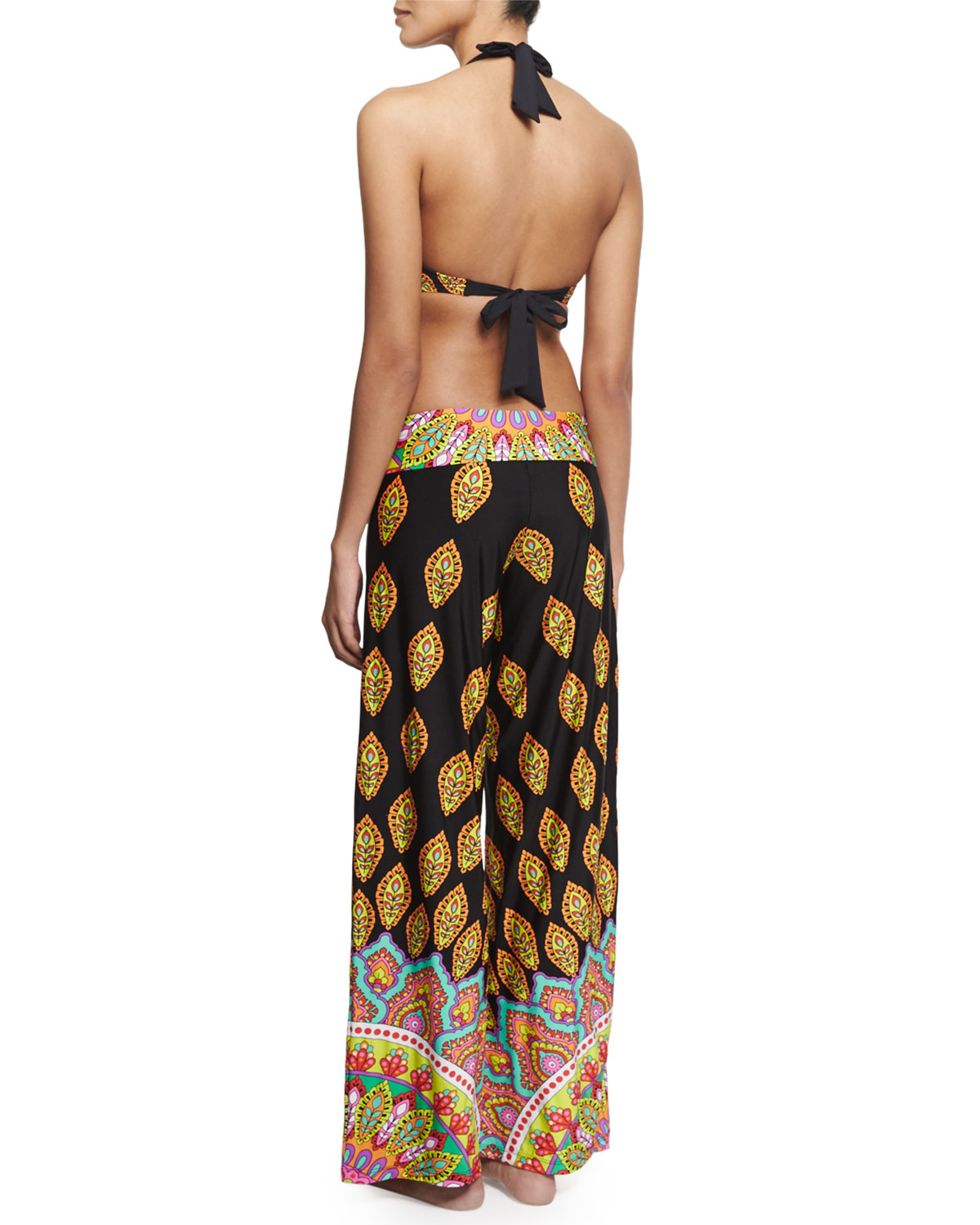 Trina turk Moroccan Medallion Wide-leg Coverup Pants | Lyst