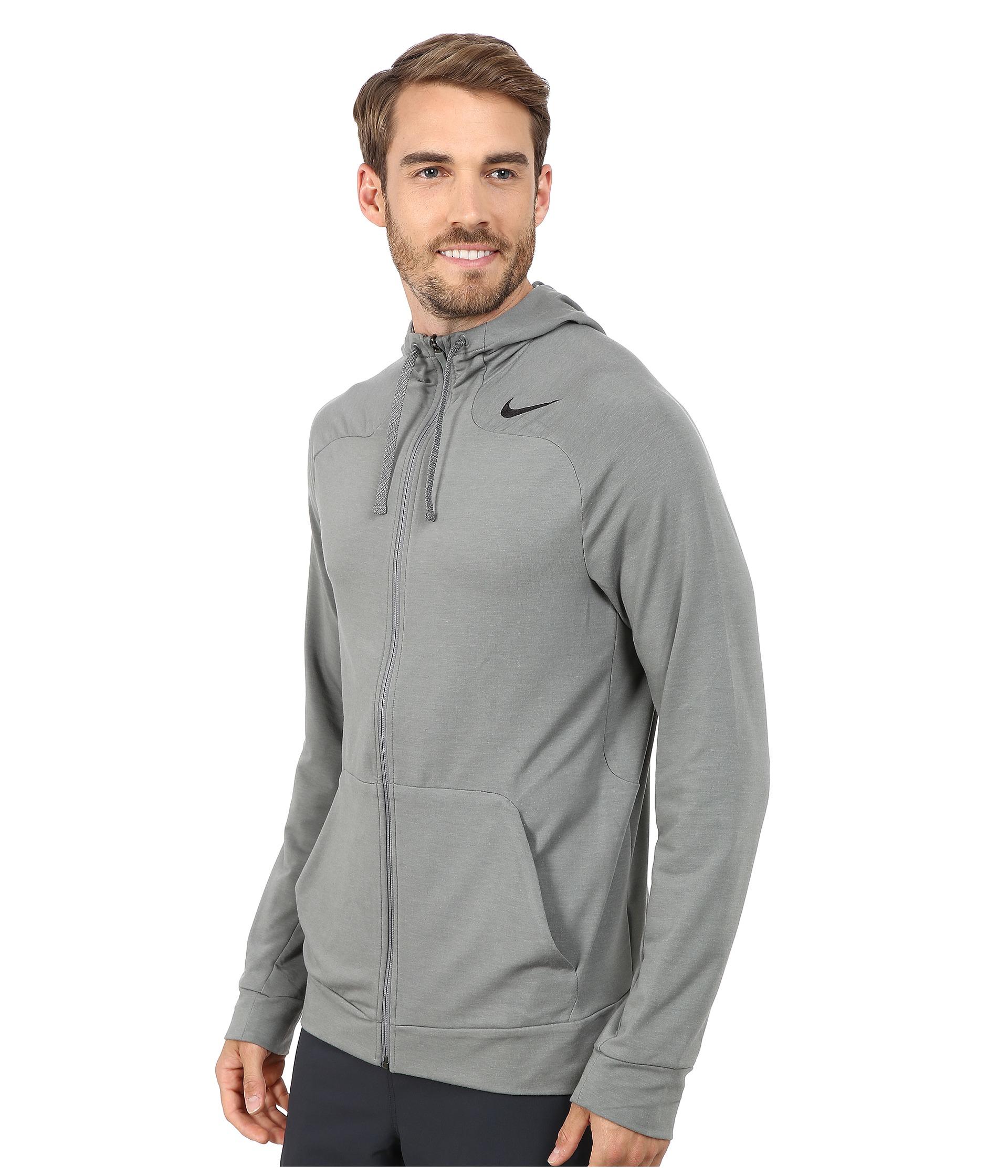 Lyst - Nike Dri-fit™ Touch Fleece Full-zip Hoodie in Gray for Men 3168372b3