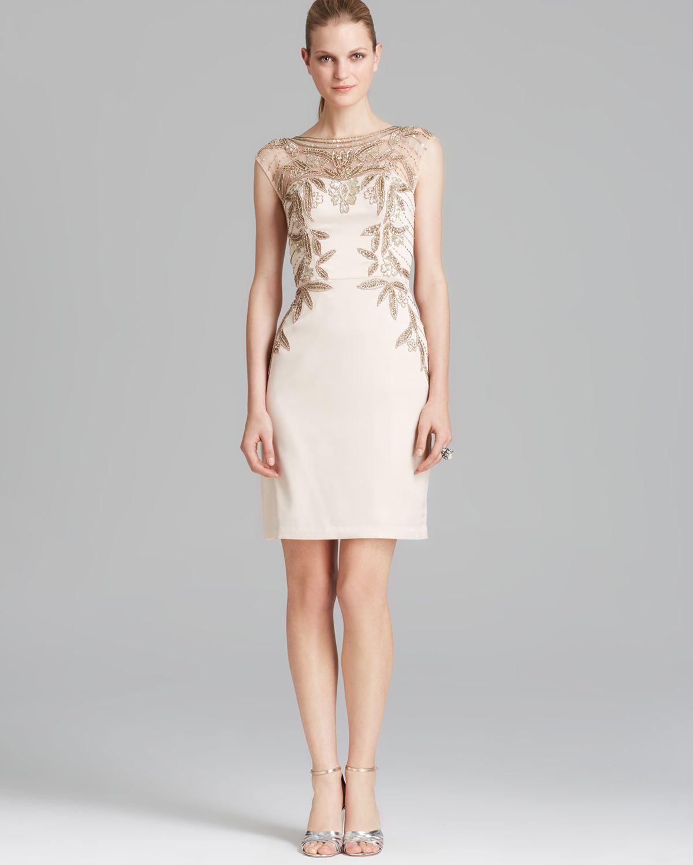 Sue Wong Gold Fringe Dress