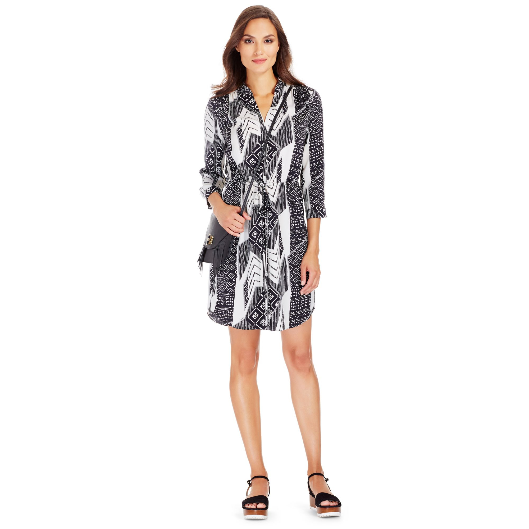 Diane von furstenberg freya silk shirt dress lyst for Diane von furstenberg clothes