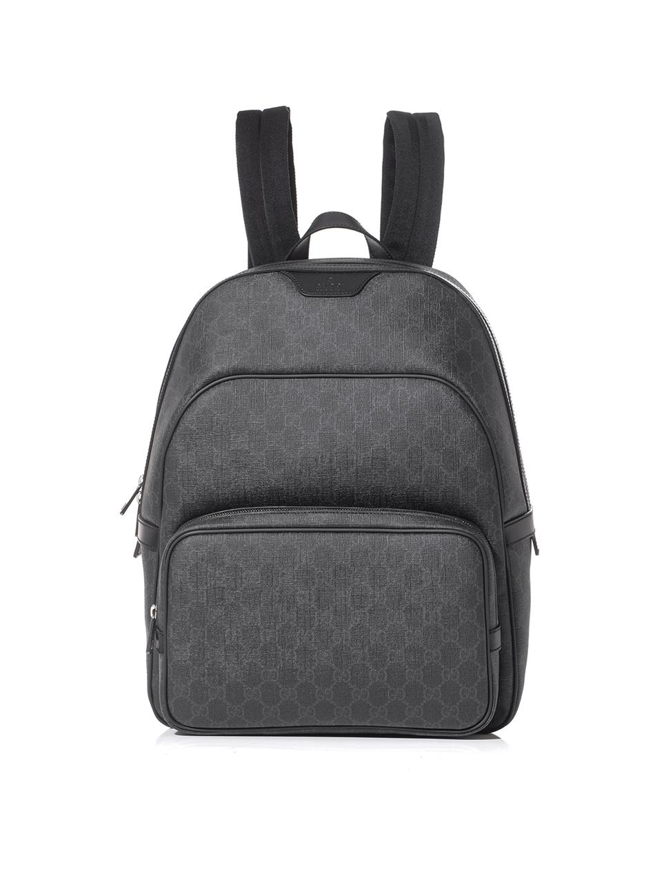 80f6fa3ace552a Gucci Gg Supreme Backpack in Gray for Men - Lyst