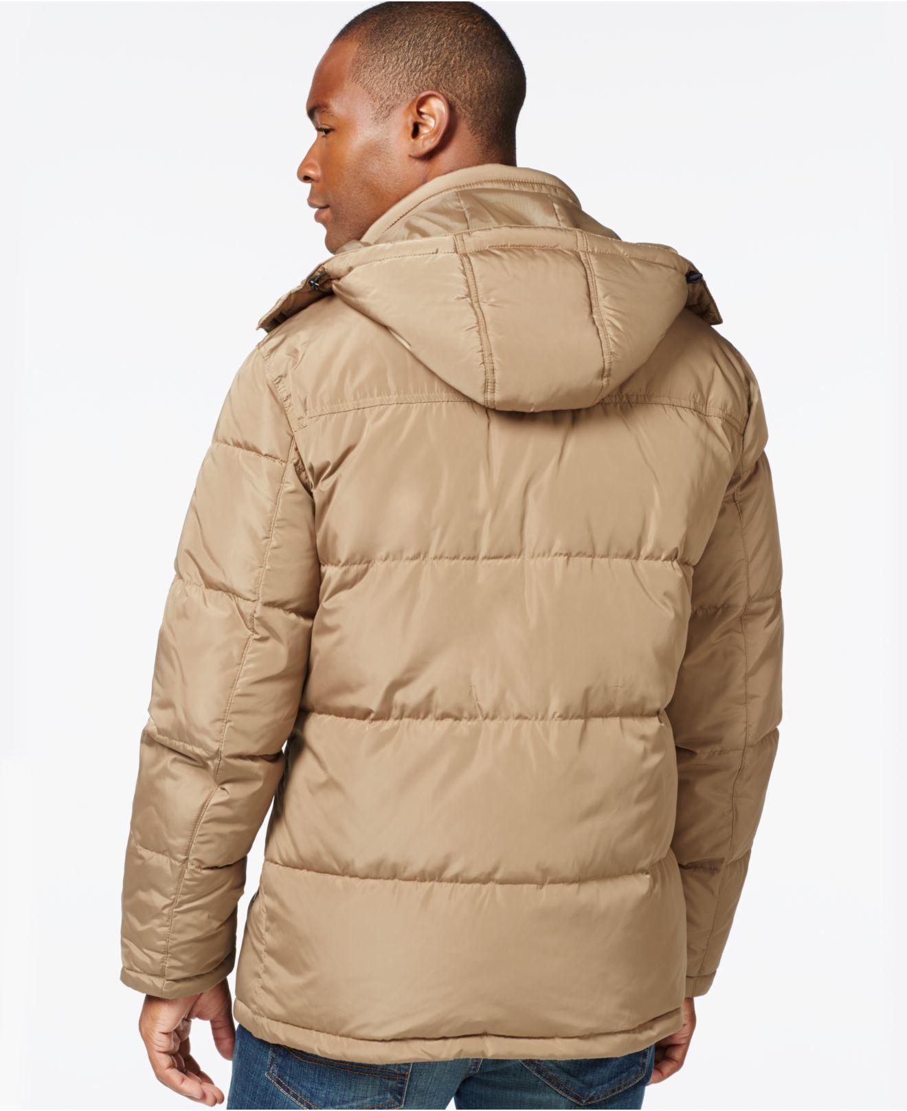 Lyst London Fog Hooded Parka Jacket In Natural For Men