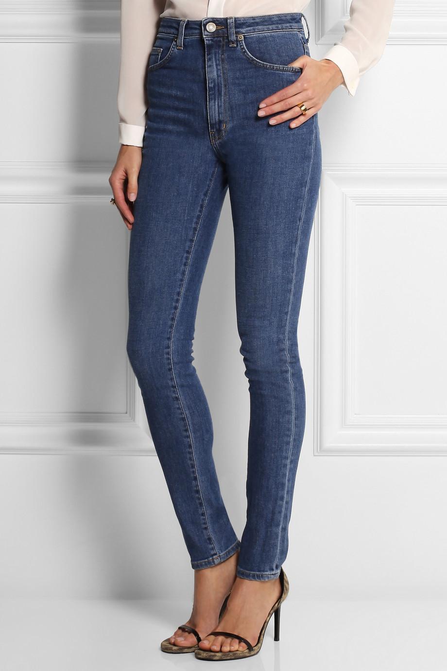 High-waisted skinny jeans Saint Laurent obo3bO