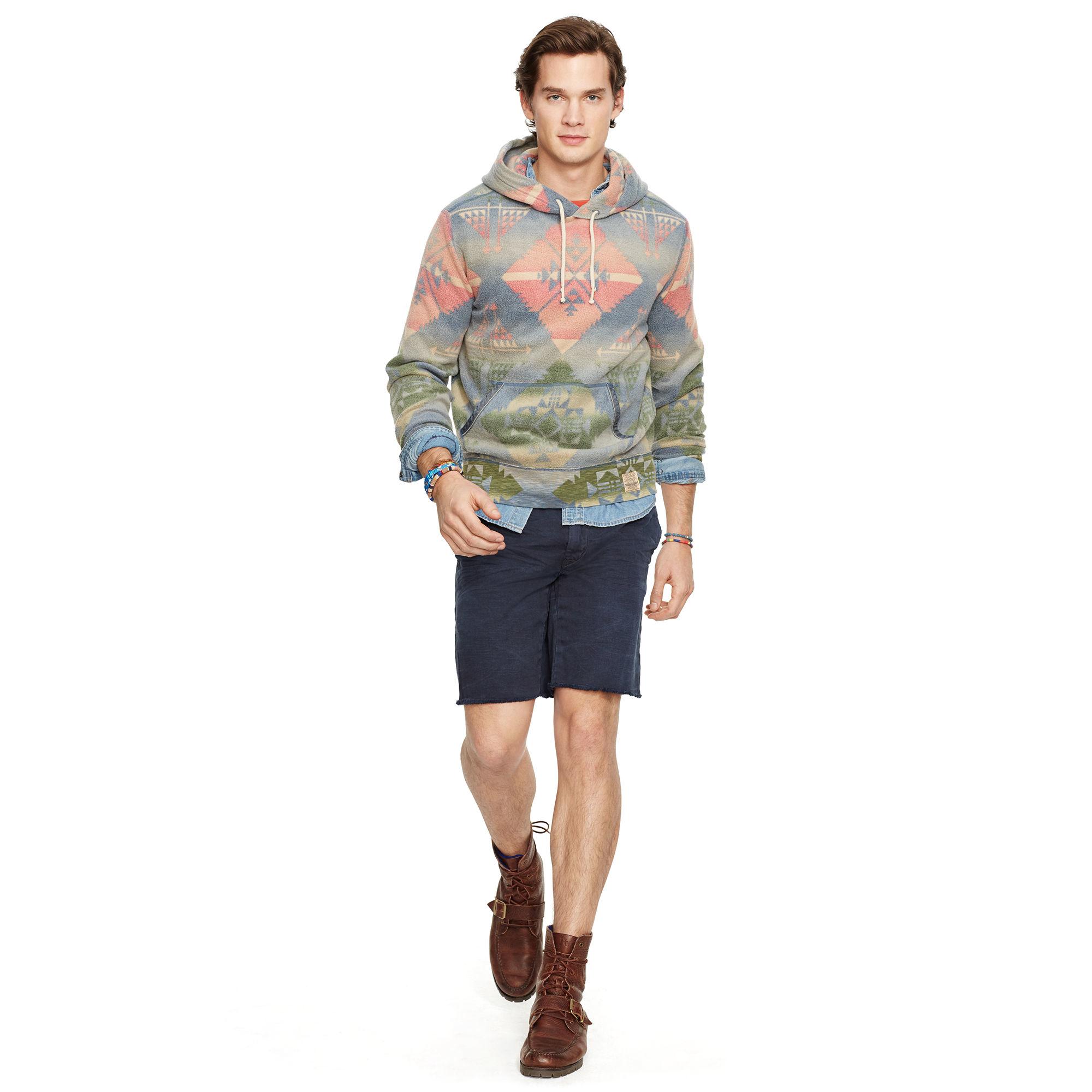 b05b5d403 Polo Ralph Lauren Southwestern Fleece Hoodie for Men - Lyst