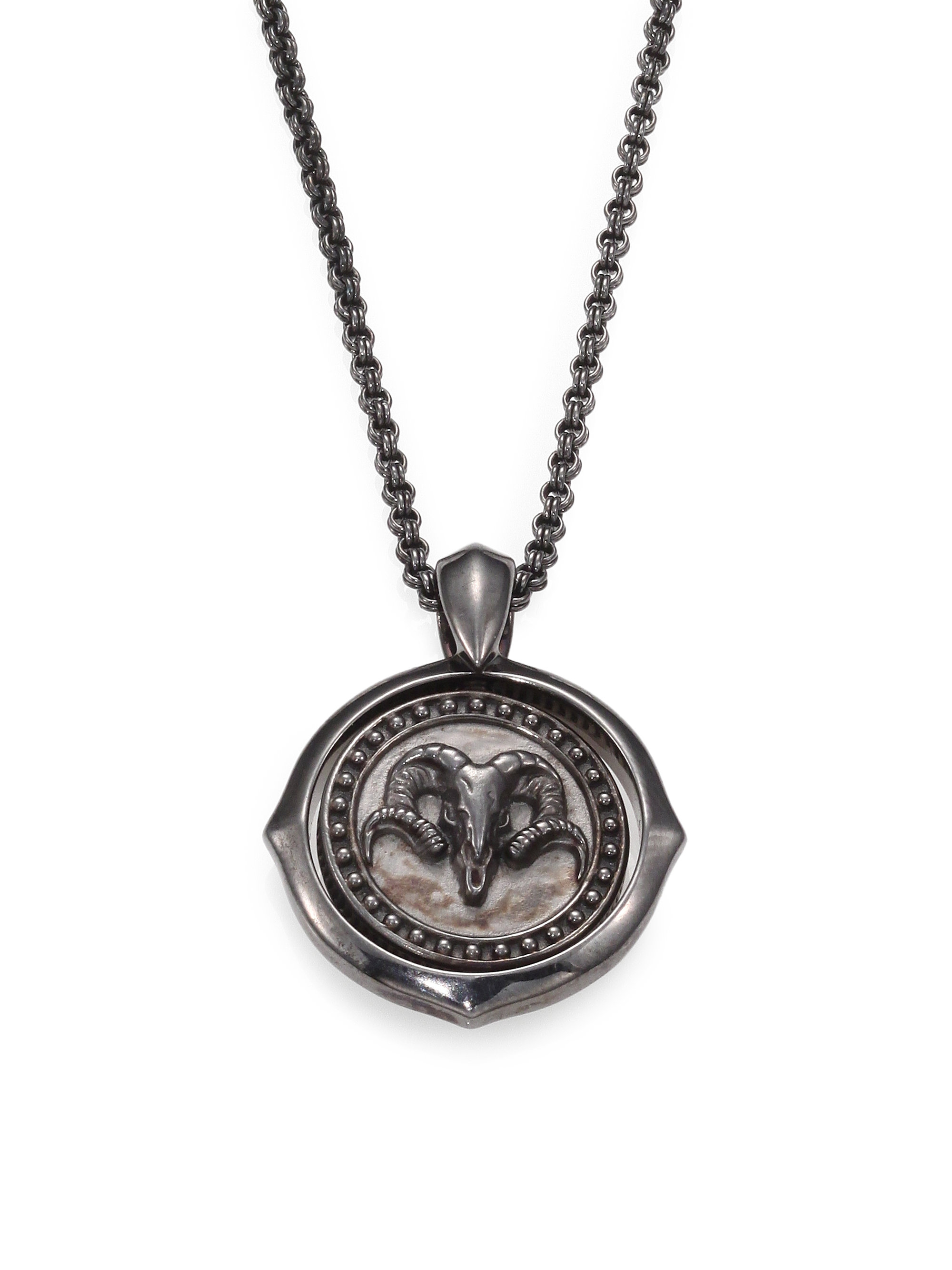 Lyst stephen webster sterling silver aries pendant necklace in gallery aloadofball Choice Image