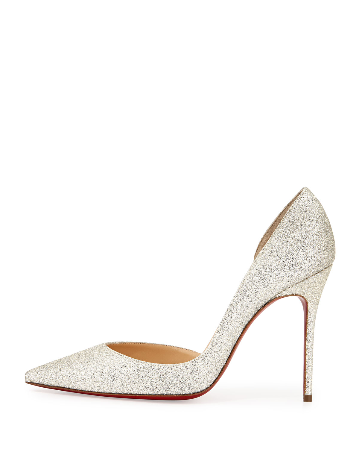 best replica christian louboutins - christian louboutin demi you half d'orsay peep-toe red sole pump ...
